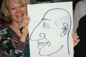 presenteren karikatuur